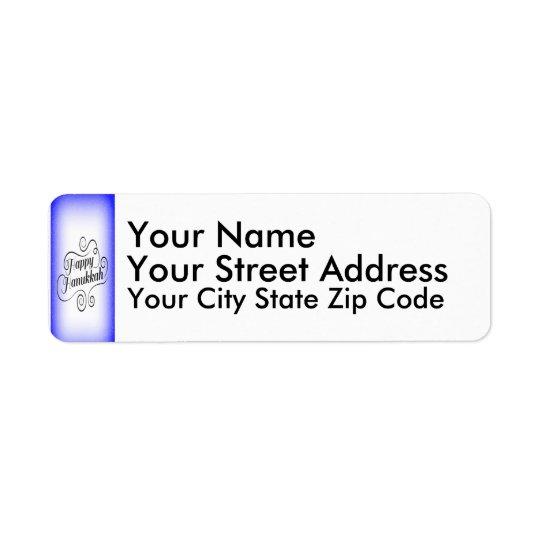 Hanukkah feliz etiqueta endereço de retorno