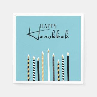 Hanukkah feliz moderno Candles guardanapo do