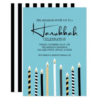 Hanukkah feliz moderno Candles o cartão da festa