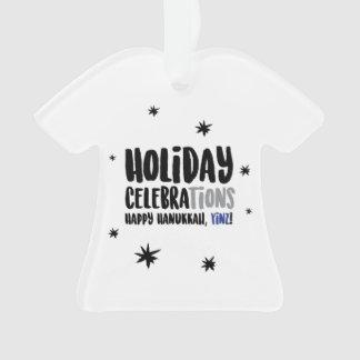 Hanukkah feliz, ornamento de Yinz