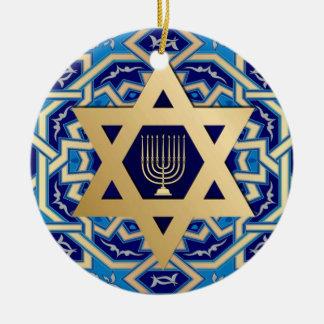 Hanukkah feliz! Ornamento feitos sob encomenda do