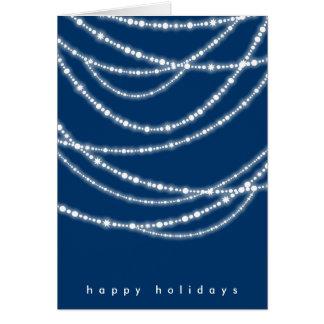 Hanukkah ilumina o cartão de cartões de natal dos