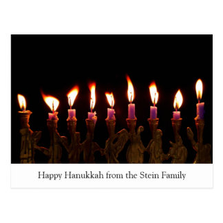 Hanukkah personalizado Menorah Candles o cartão do