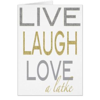 """Hanukkah """"vive amor do riso cartão chamativo de um"""