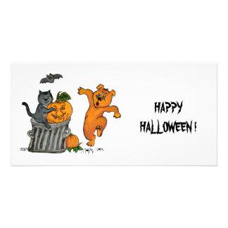 Happy dia das bruxas! 5 cartoes com foto personalizados