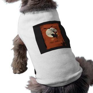 Happy dia das bruxas camisas para cães