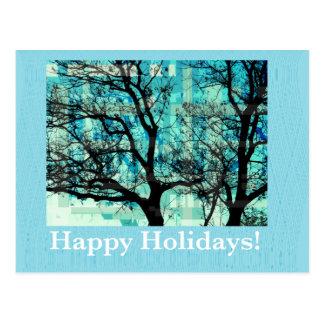 Happy Holidays Cartão Postal