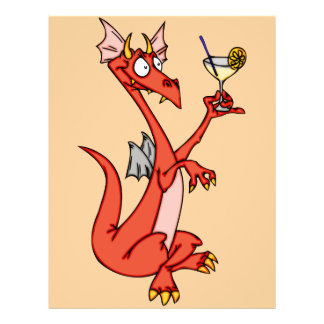 Happy hour do dragão panfleto personalizados