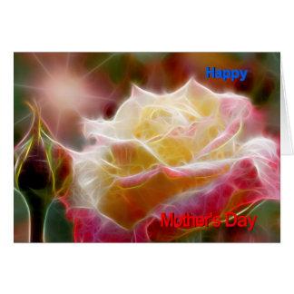 happy mothers day card rose moderno em the sun cartão comemorativo