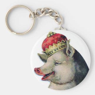 Happy pig king chaveiros