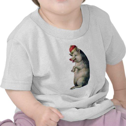 Happy pig king t-shirt