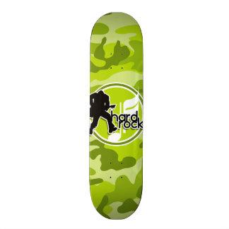 Hard rock; camo verde-claro, camuflagem skates