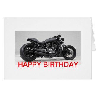 Harley Davidson cartão de aniversário