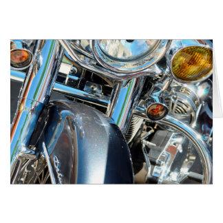 Harley Davidson que submete acima o cartão de