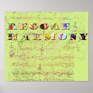 harmonia da reggae impressão
