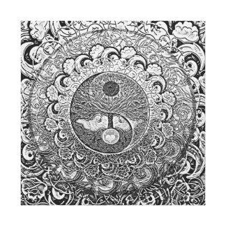 Harmonia e equilíbrio Yin de prata Yang Impressão Em Canvas