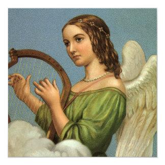 Harpa da música do anjo do Victorian do natal