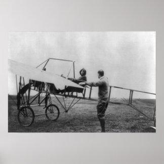Harriet Quimby em sua fotografia do avião Impressão