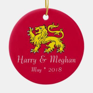 Harry & ornamento comemorativo de Meghan