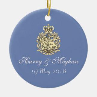 Harry real e ornamento Wedding de Meghan (azul)