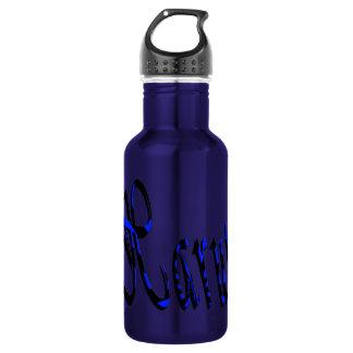 Haruto, nome, logotipo, garrafa de água reusável