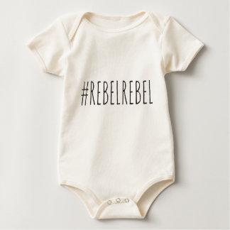Hashtag rebelde rebelde body para bebê