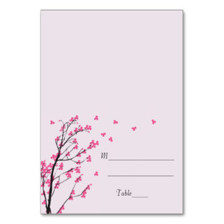 Haste da flor de cerejeira - cartão da escolta