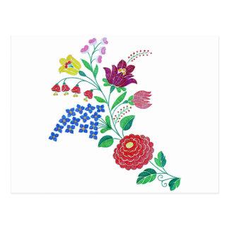 Haste da flor de Kalocsai Cartoes Postais