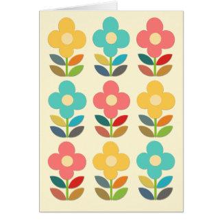 Hastes do estilo e floral nórdicos cartão