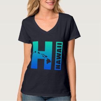 HAVAÍ (design azul do HI) Tshirt