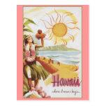 Havaí - onde os sonhos começam cartoes postais