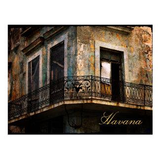 Havana, cartão velho do balcão da cidade