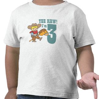 Haw de Yee! Eu sou 3 com o vaqueiro feliz e bonito Tshirt