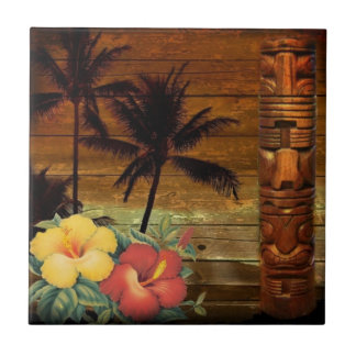 Hawaiian floral tropical do hibiscus do totem da