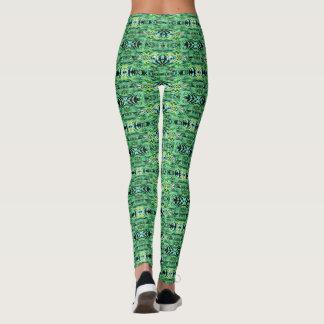 Hawaiian verde leggings