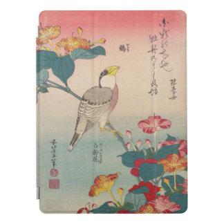 Hawfinch de Hokusai e arte de Maravilha--Peru Capa Para iPad Pro