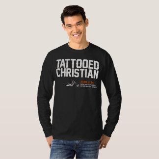 "HD camisa longa ""cristã"" Tattooed da luva T -"