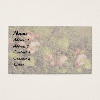 Heade Apple floresce cartões de visitas florais