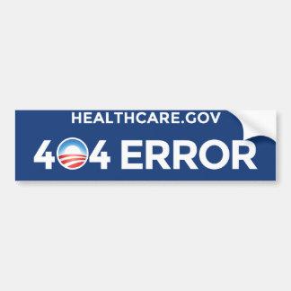 HealthCare.gov - erro 404 Adesivo Para Carro