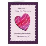 Heartstrings algum cartão do aniversário de casame