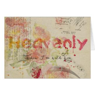Heavenly quando eu for com você - vintage cartão