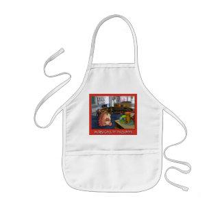 Hedgy o ouriço vai à blusa pré-escolar da pintura! avental infantil