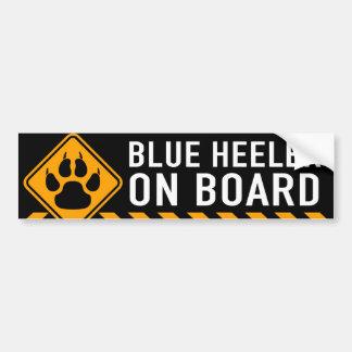 Heeler azul a bordo adesivo para carro
