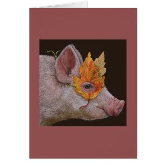 Helga o cartão mascarado do porco