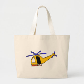 Helicóptero amarelo bolsa para compras