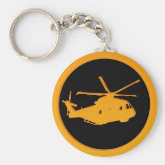 Helicóptero do ouro chaveiros