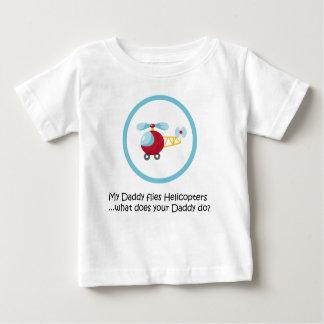 Helicóptero do pai camiseta para bebê