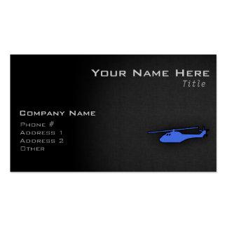 Helicóptero dos azuis marinhos cartão de visita