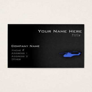 Helicóptero dos azuis marinhos cartão de visitas