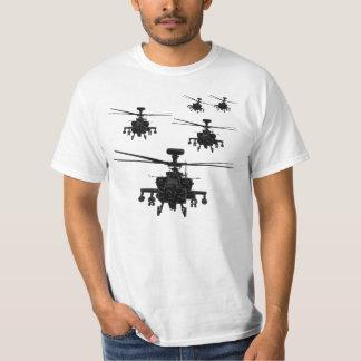 Helicóptero impressionante de Apache Camisetas